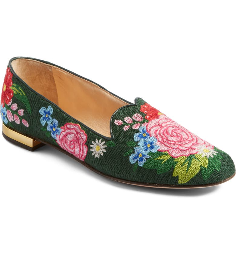 CHARLOTTE OLYMPIA Rose Garden Loafer, Main, color, 001