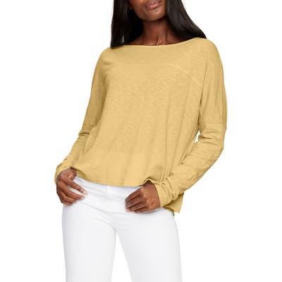 Michael Stars Bria Boat Neck Top, Size One Size - Ivory
