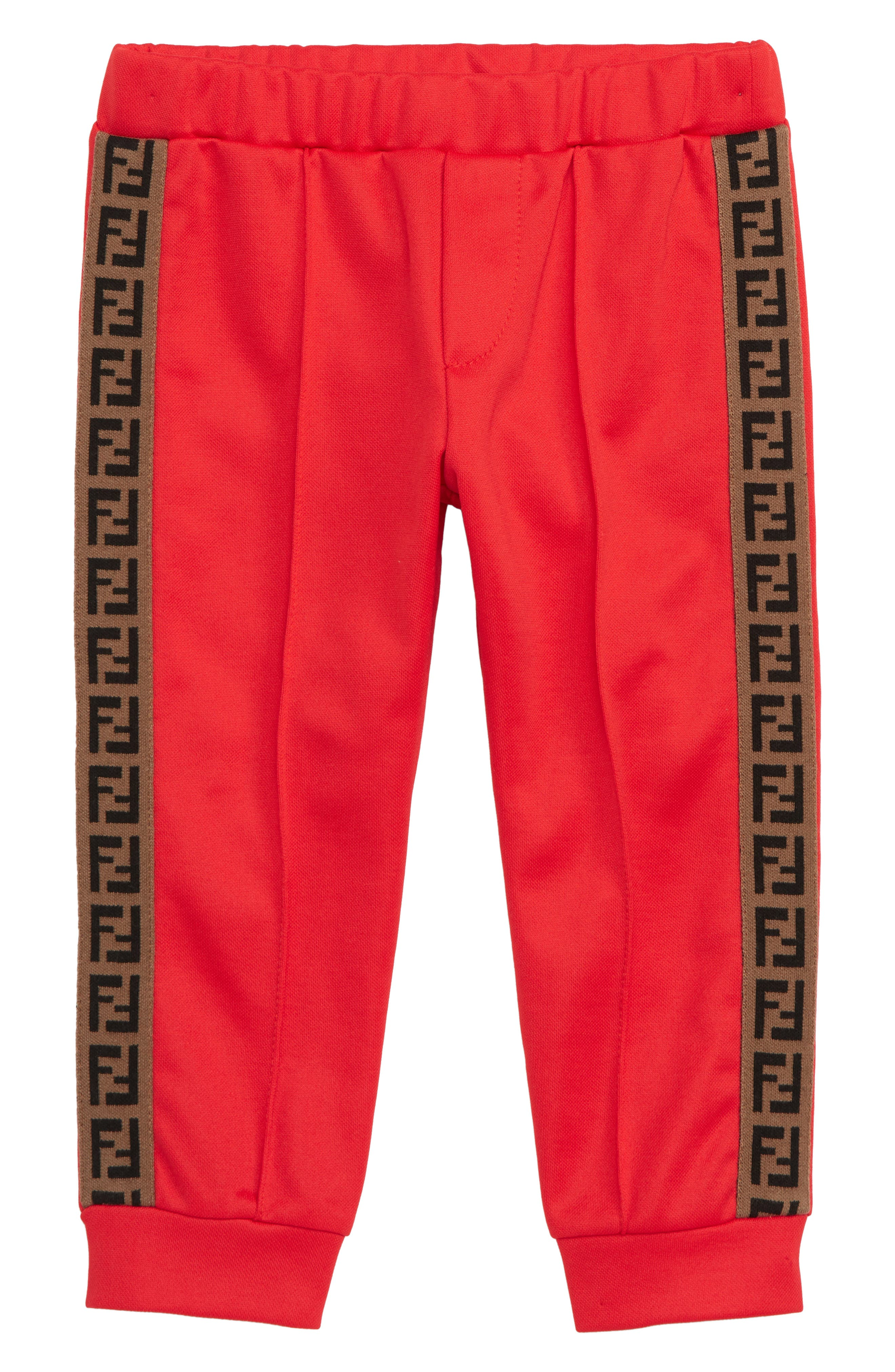 ,                             Logo Detail Track Pants,                             Main thumbnail 1, color,                             RED