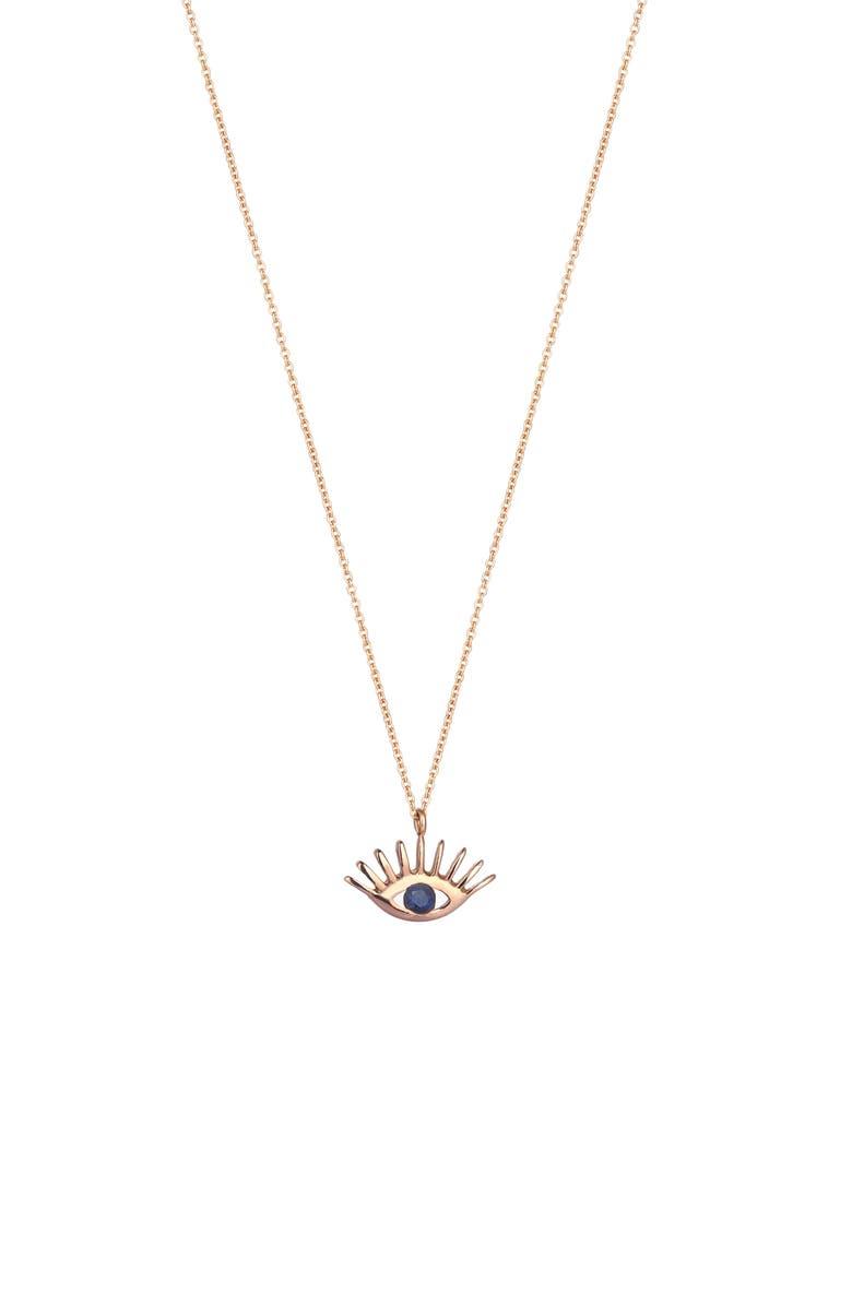 KISMET BY MILKA Sapphire Pendant Necklace, Main, color, 712