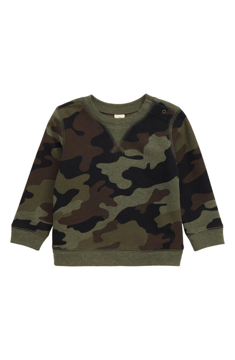 TUCKER + TATE B.Y.O. Fleece Sweatshirt, Main, color, GREEN BEETLE CLASSIC CAMO