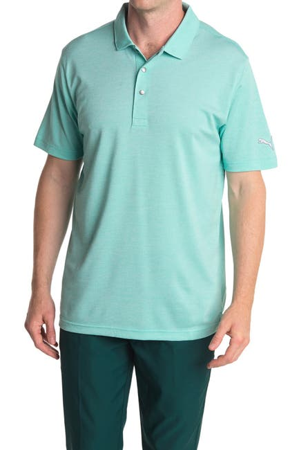 Image of PUMA Blue Grill to Green Golf Polo