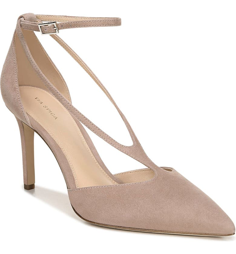 VIA SPIGA Nora Pump, Main, color, BLUSH SUEDE
