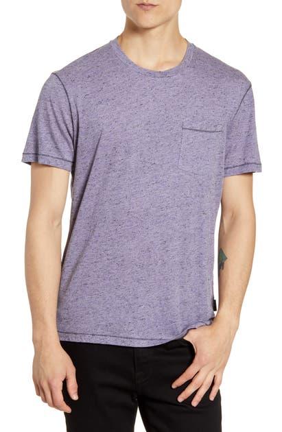 John Varvatos T-shirts ASHEVILLE COTTON BLEND CREWNECK T-SHIRT