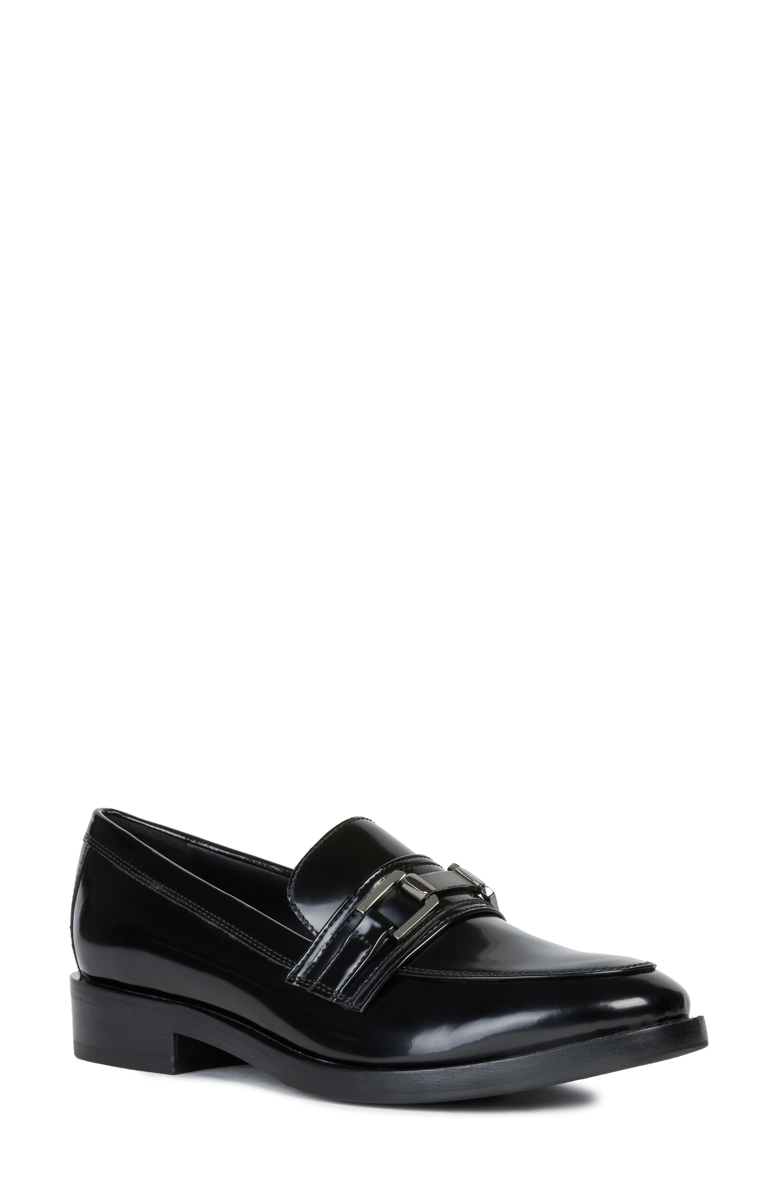 Geox Brogue Loafer, Black