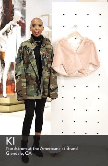 Faux Fur Capelet, sales video thumbnail