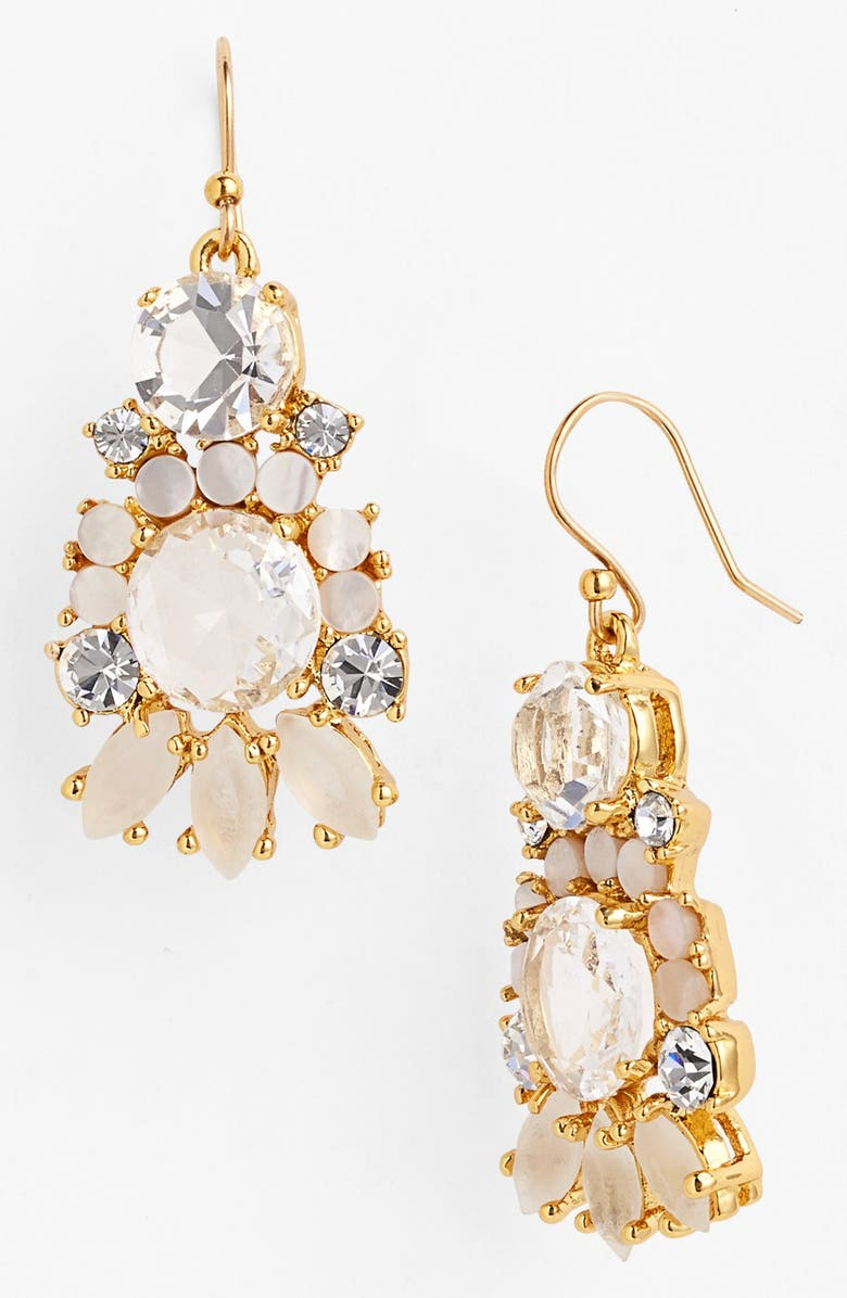 KATE SPADE NEW YORK 'grande bouquet' mixed stone earrings, Main, color, 900