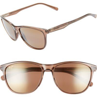 Maui Jim Sugar Cane 57mm Polarizedplus2 Sunglasses - Transparent Mocha/ Hcl Bronze
