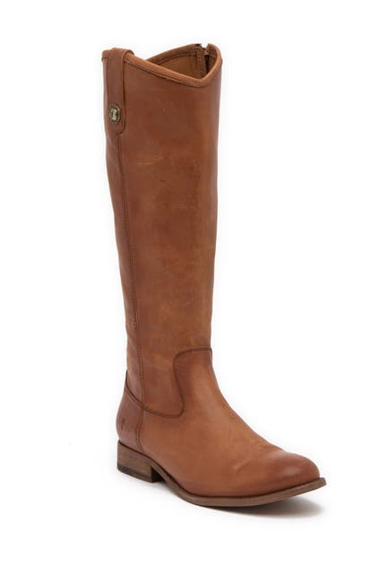 Image of Frye Melissa Button Inside Zip Leather Boot