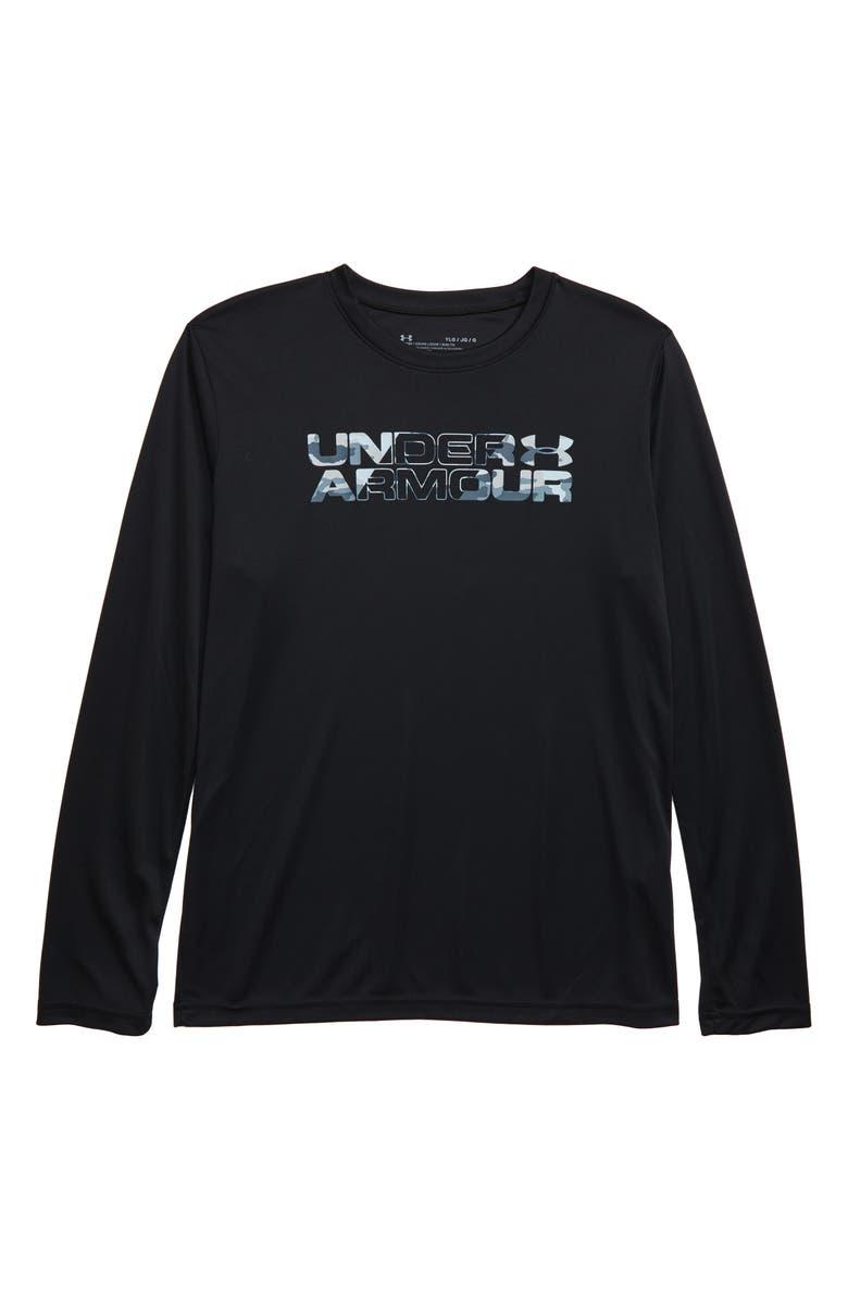 UNDER ARMOUR Big Logo HeatGear<sup>®</sup> T-Shirt, Main, color, 001