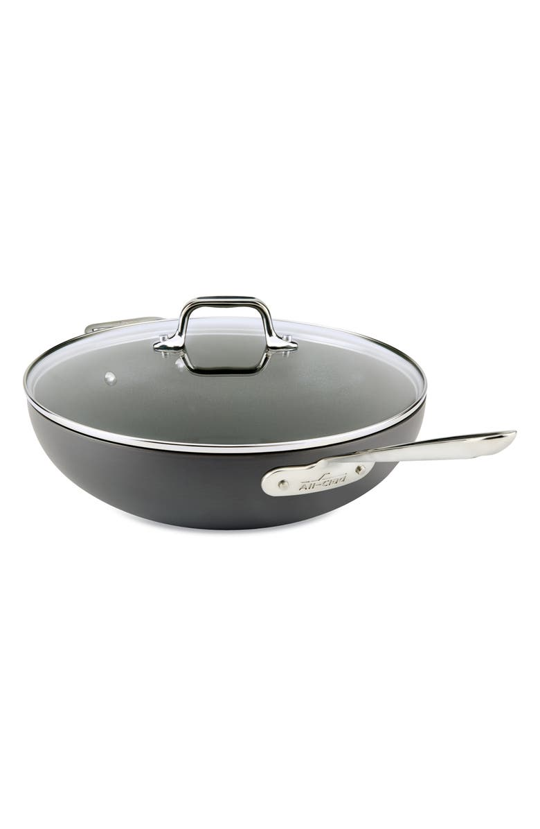 ALL-CLAD 12-Inch Hard Anodized Aluminum Nonstick Chef's Pan, Main, color, BLACK