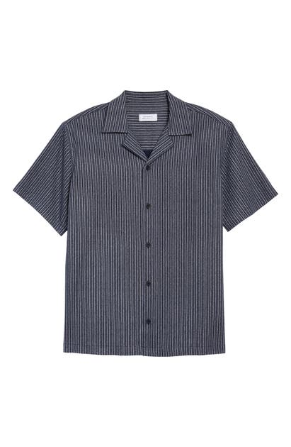 Saturdays Surf Nyc CANTY STRIPE SHORT SLEEVE BUTTON-UP CAMP SHIRT