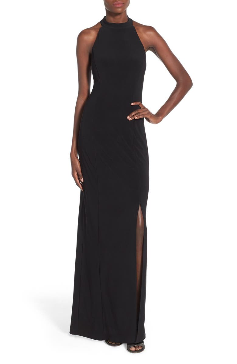 JUMP APPAREL 'Bree' Beaded Back Gown, Main, color, 001