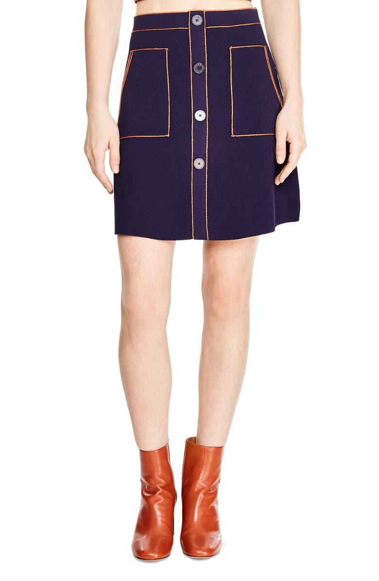 SANDRO Heloise Skirt, Main, color, 400