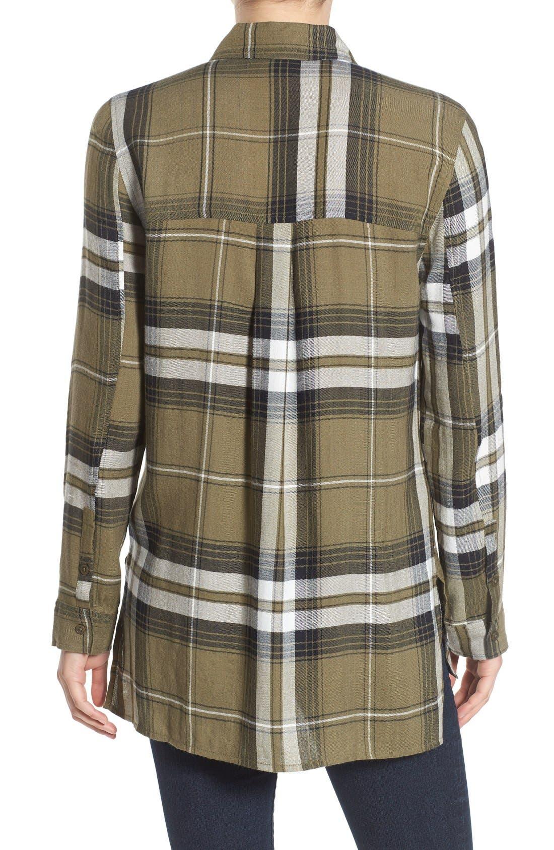 ,                             Plaid Tunic Shirt,                             Alternate thumbnail 21, color,                             315