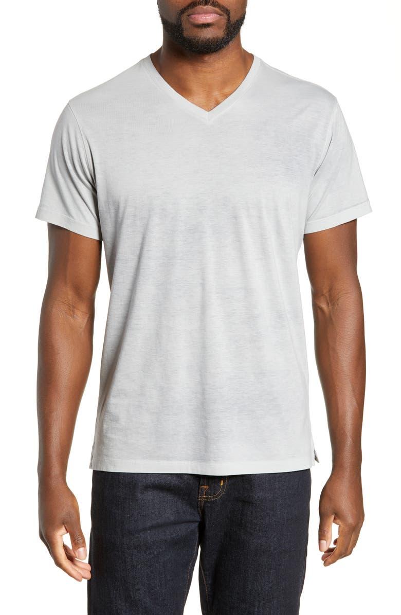 ROBERT BARAKETT Campbell V-Neck T-Shirt, Main, color, FOSSIL GREY