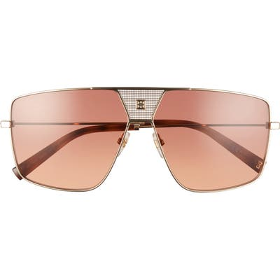 Givenchy 6m Oversize Aviator Sunglasses - Gold Violet/ Smoke