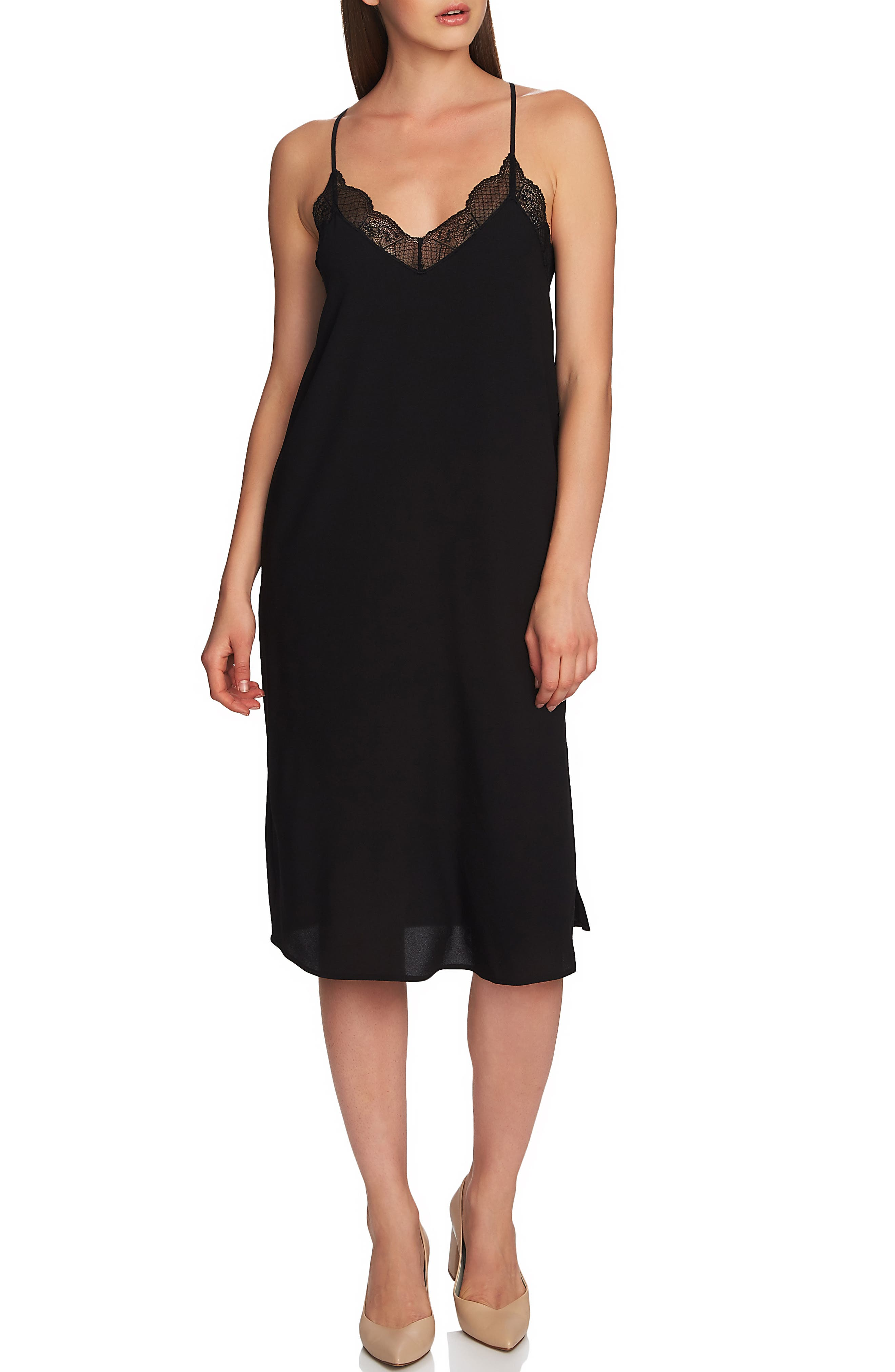 1.state Lace Slipdress, Black