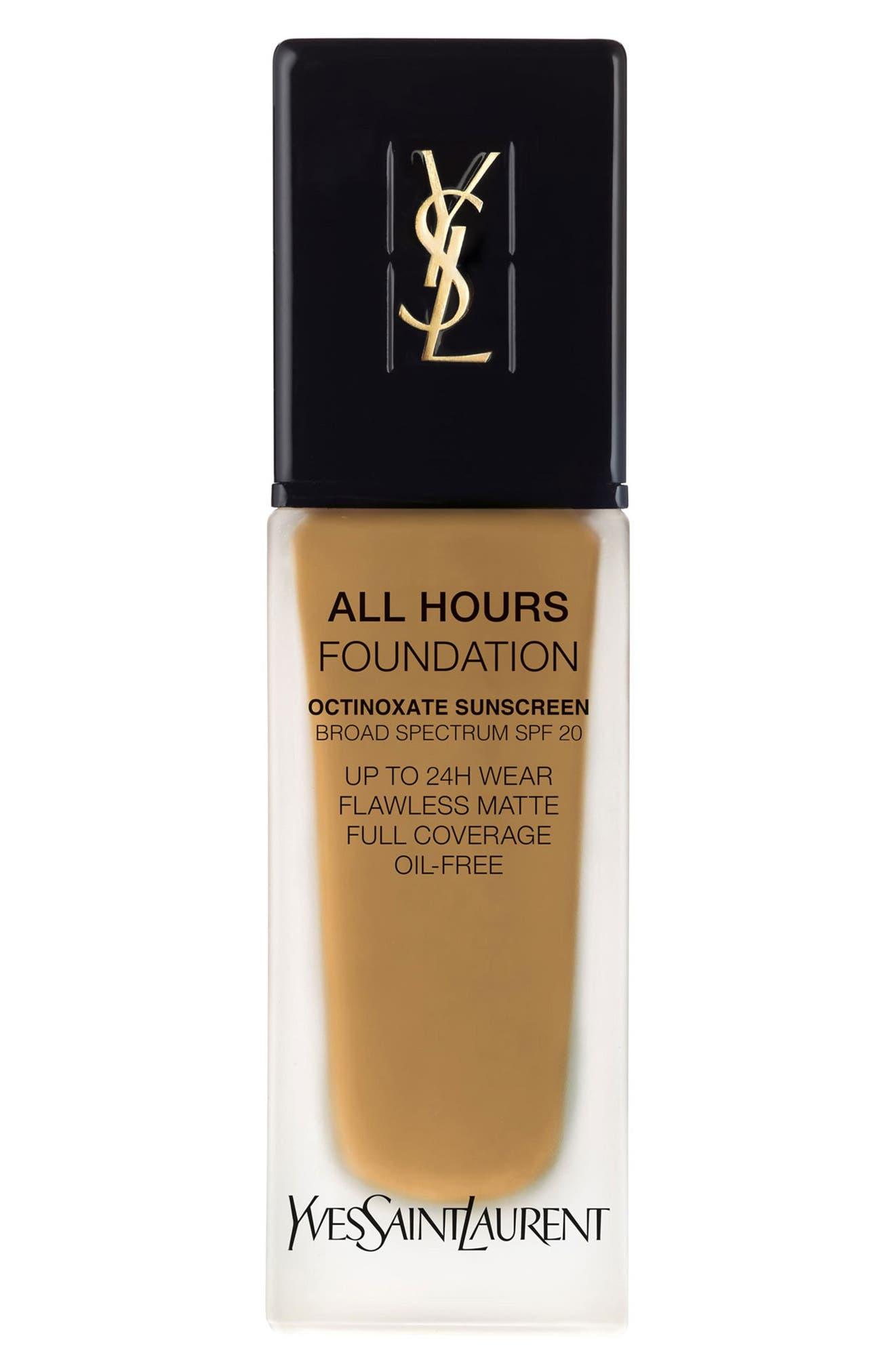 Yves Saint Laurent All Hours Full Coverage Matte Foundation Spf 20 - Bd70 Warm Mocha