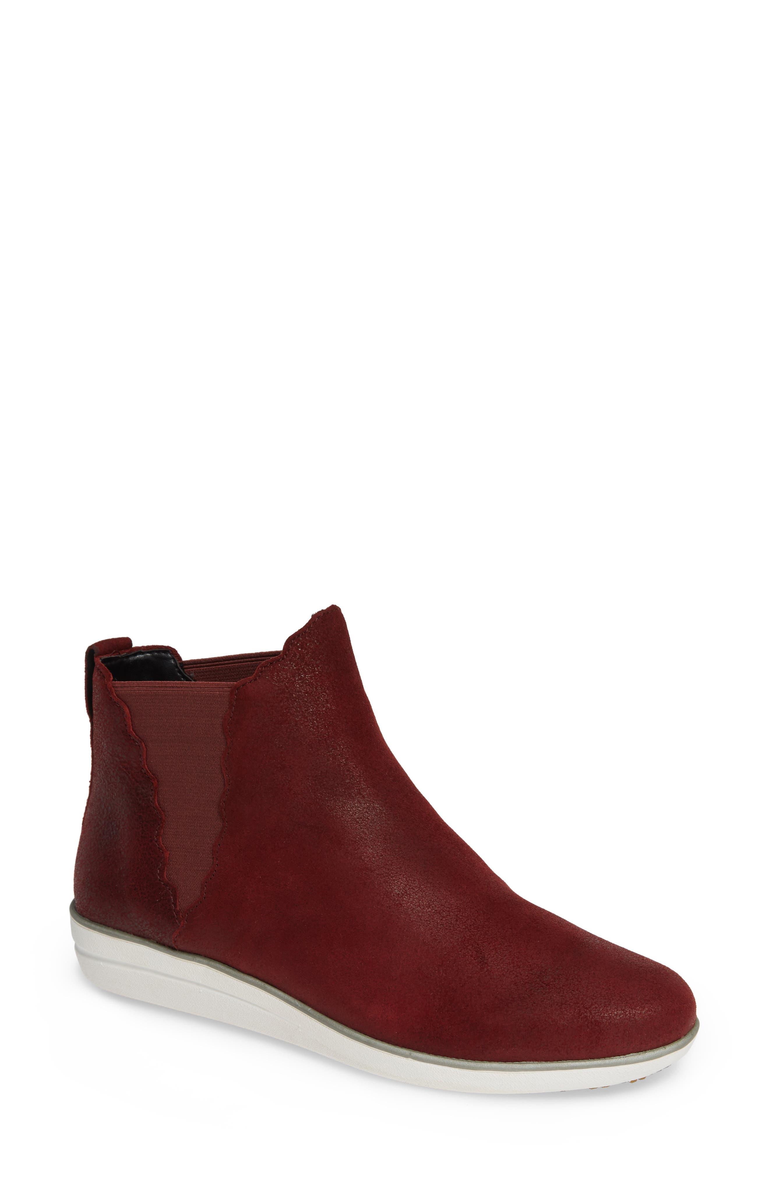 Aetrex Alanna Slip-On High Top Sneaker, Red