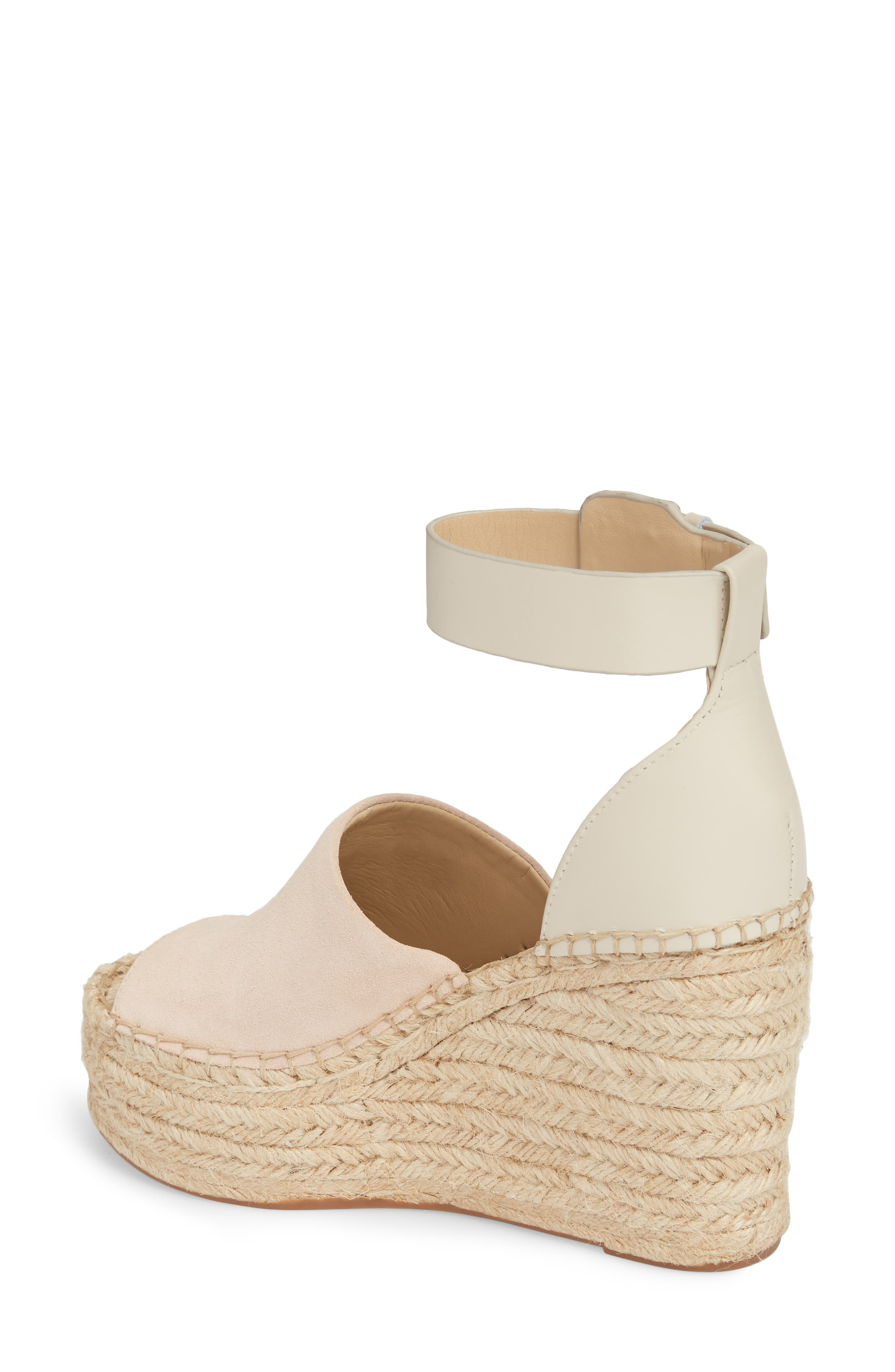 ,                             Adalyn Espadrille Wedge Sandal,                             Alternate thumbnail 2, color,                             IVORY SUEDE