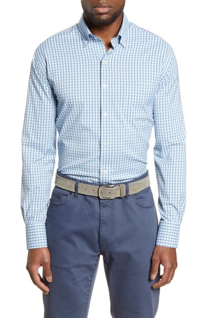 Image of Peter Millar Plaid Performance Shirt