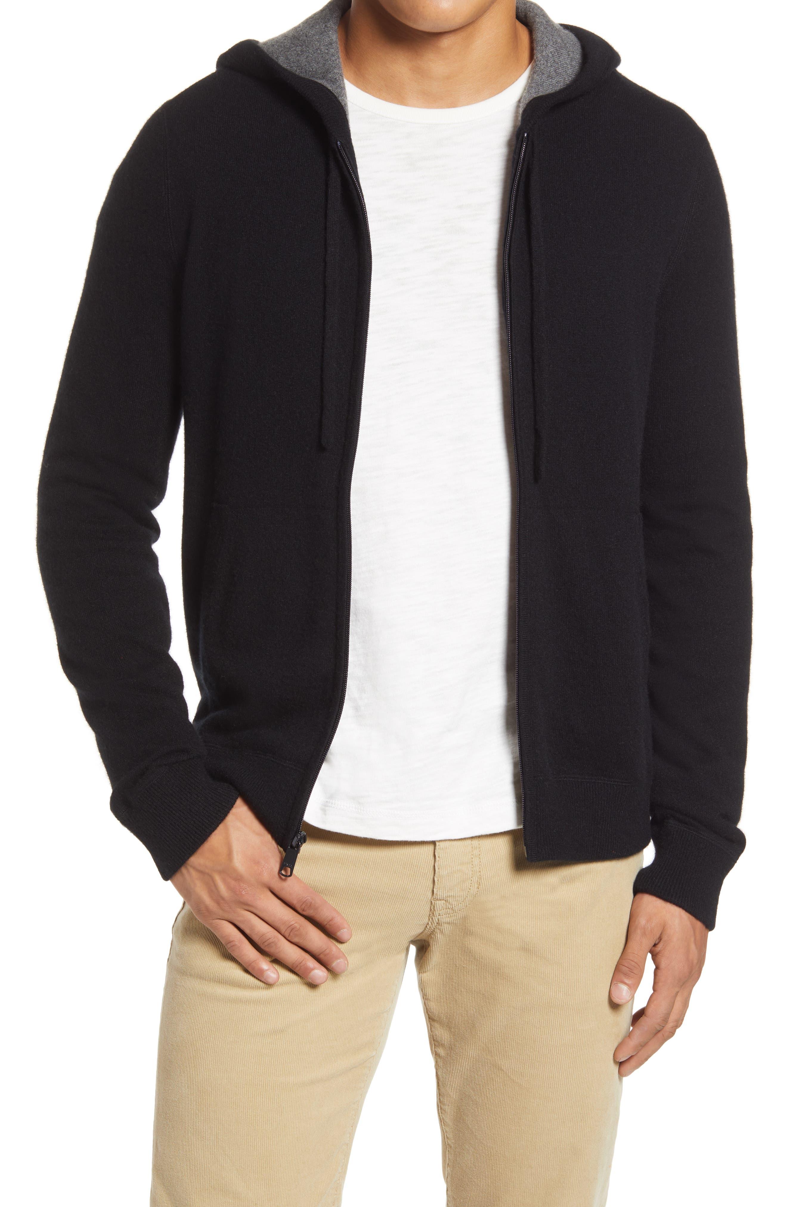 Men's Vince Regular Fit Zip Cashmere Hoodie