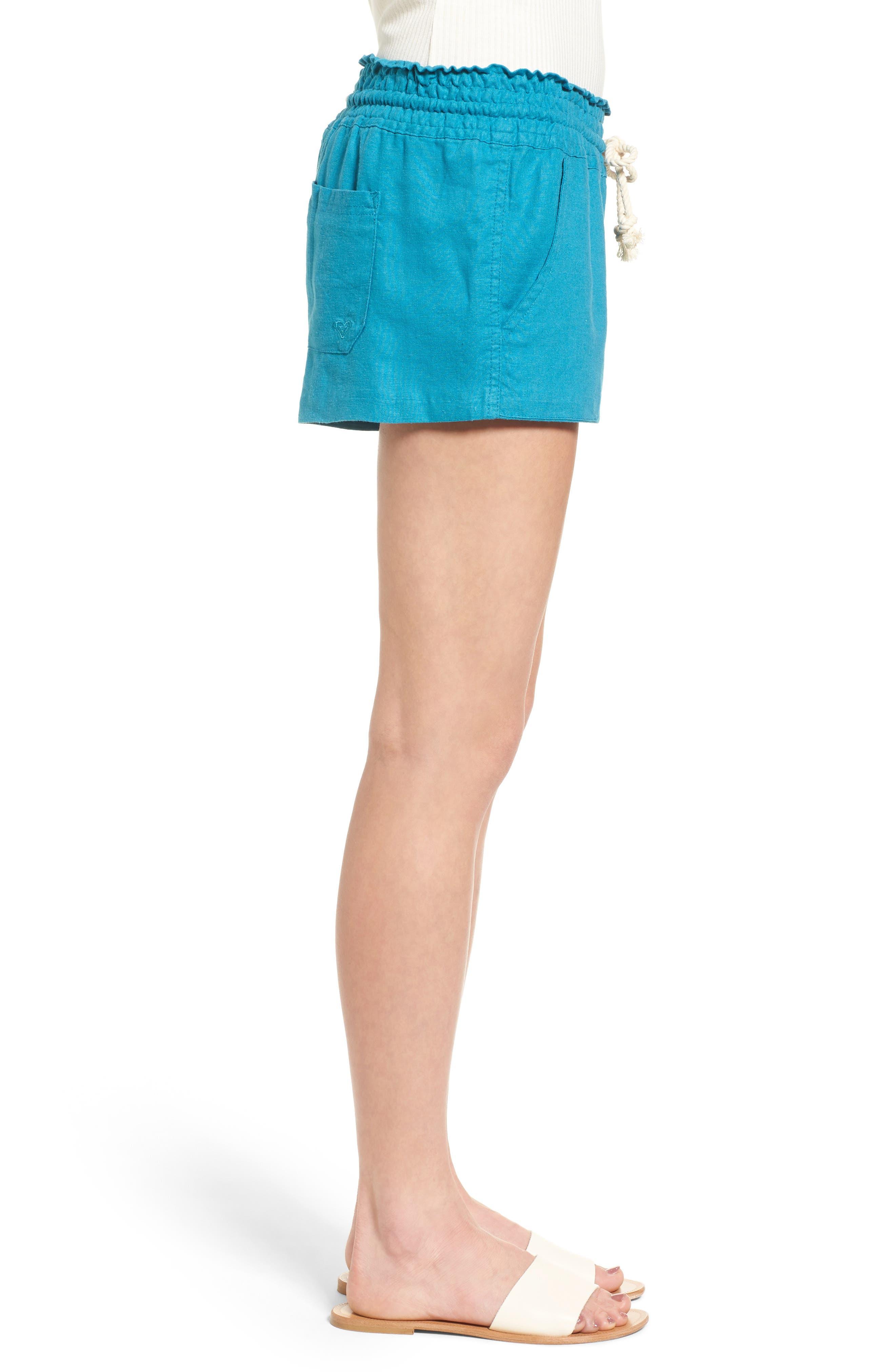 ,                             'Oceanside' Linen Blend Shorts,                             Alternate thumbnail 33, color,                             421