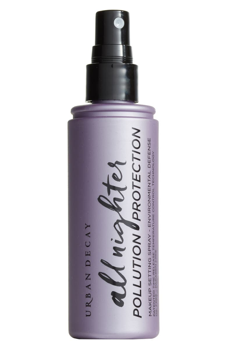 URBAN DECAY All Nighter Pollution Protection Environmental Defense Makeup Setting Spray, Main, color, NO COLOR