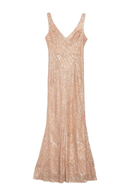 Image of Marina Sequined Floor Length Gown