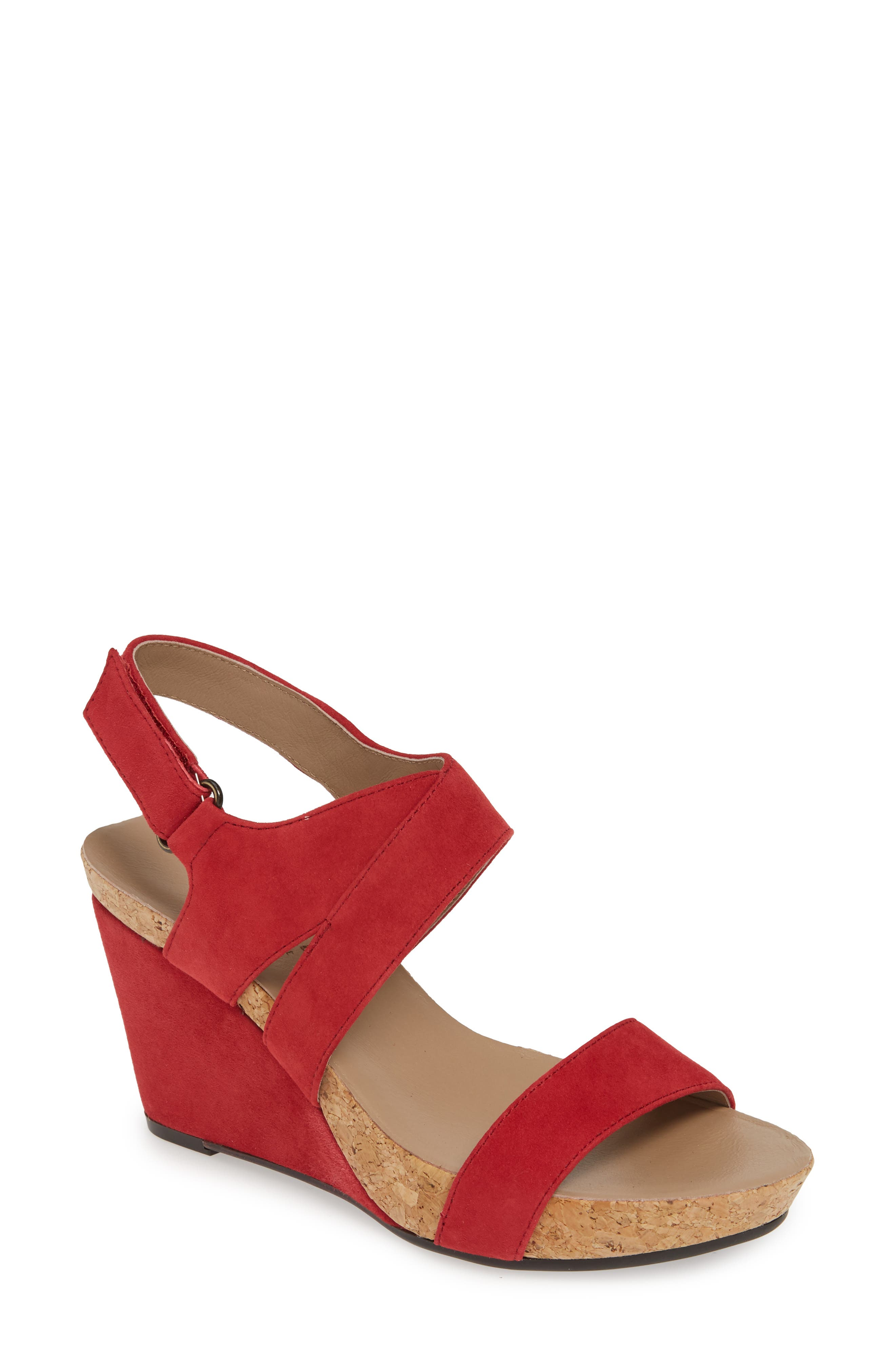 Bettye Muller Concepts Trent Slingback Wedge, Red