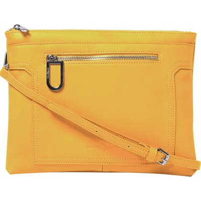 Urban Originals Muse Vegan Leather Crossbody Clutch - Yellow