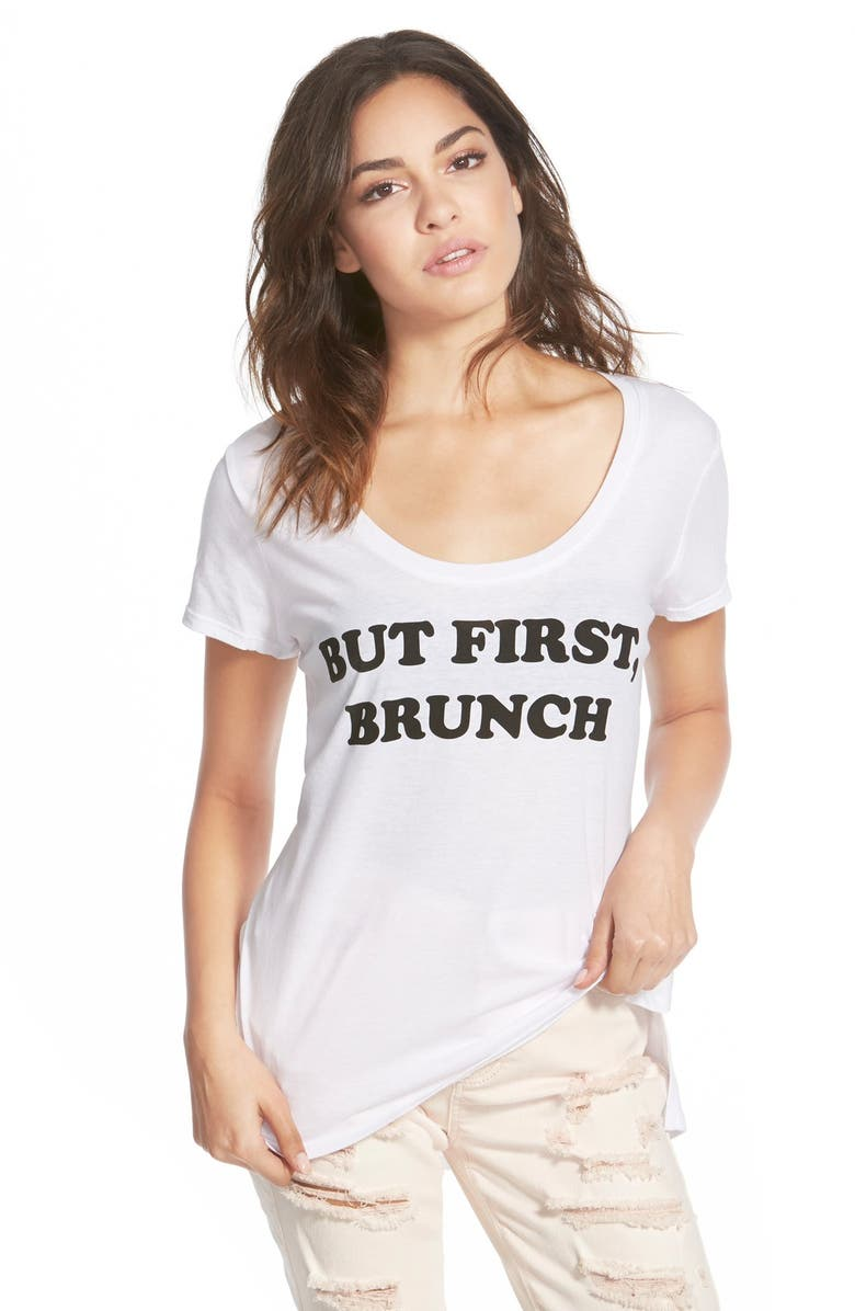 RECYCLED KARMA 'But First, Brunch' Graphic Tee, Main, color, 100