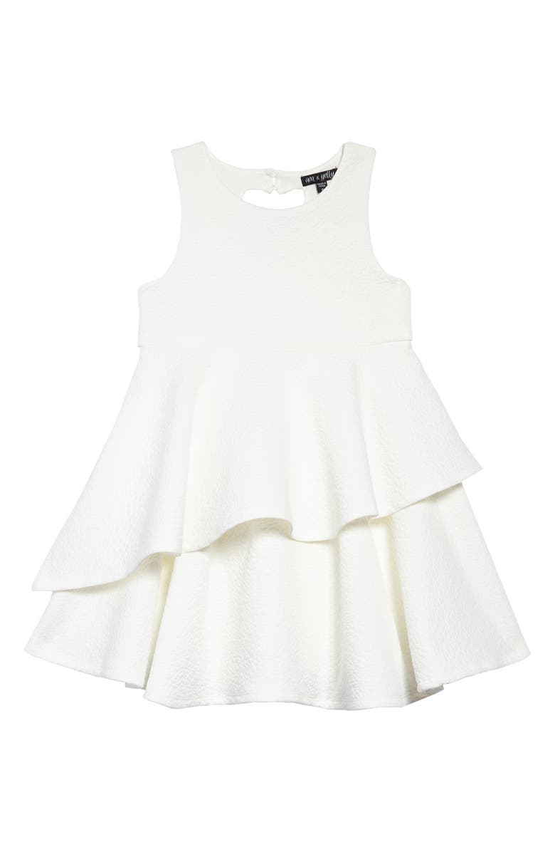 AVA & YELLY Tiered Unicorn Dress, Main, color, 100
