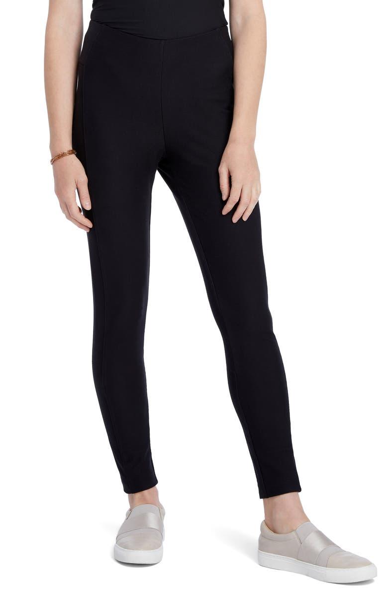NIC+ZOE Knit Riding Pants, Main, color, BLACK ONYX