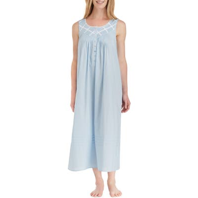 Eileen West Cotton Lawn Ballet Nightgown, Blue