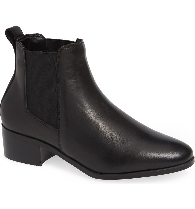STEVE MADDEN Dover Chelsea Bootie, Main, color, BLACK LEATHER