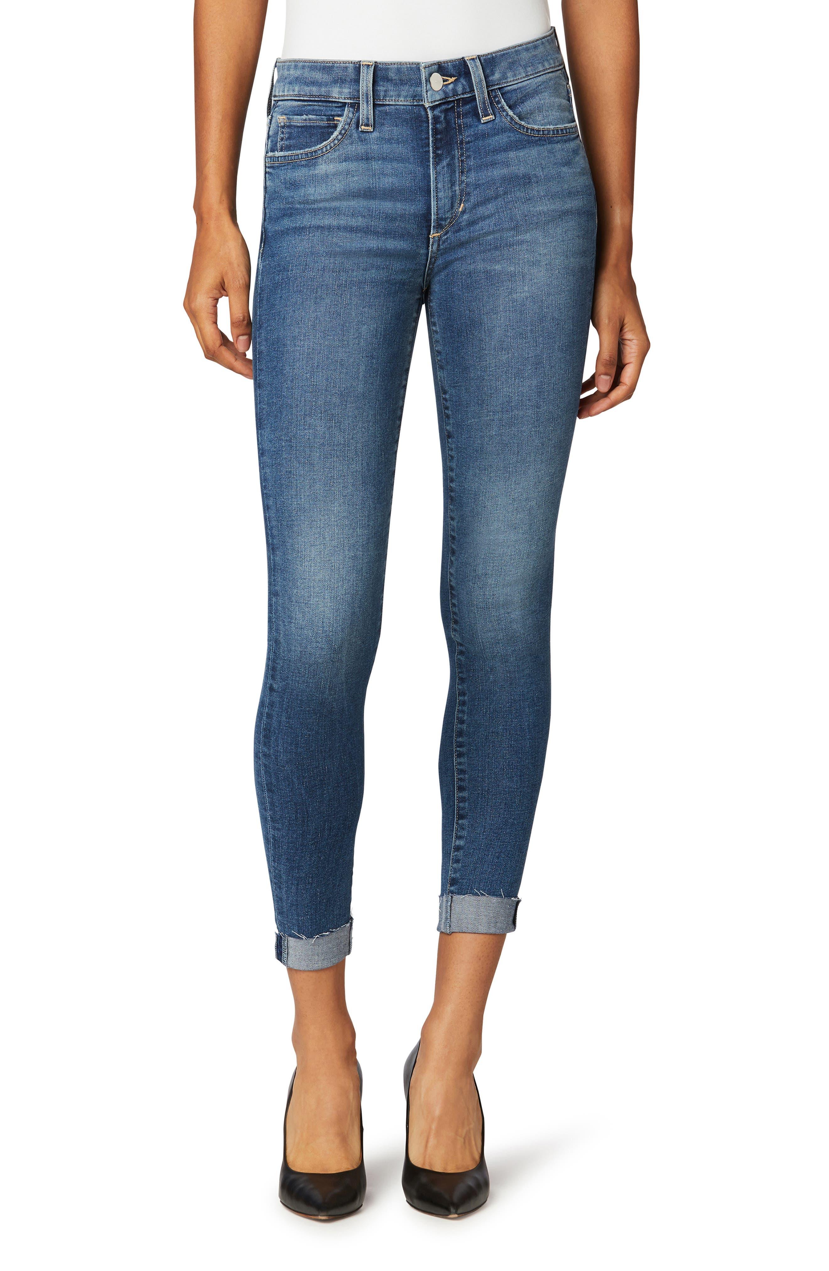 The Icon Raw Hem Crop Skinny Jeans