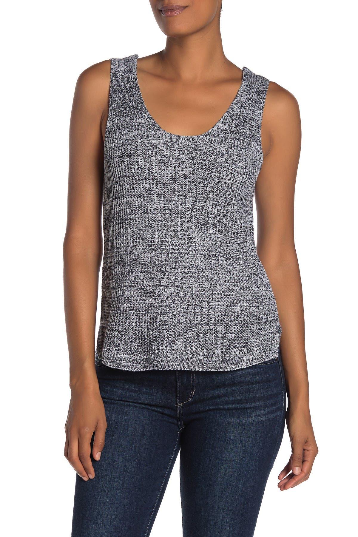 Image of SUSINA Marled Sweater Tank Top