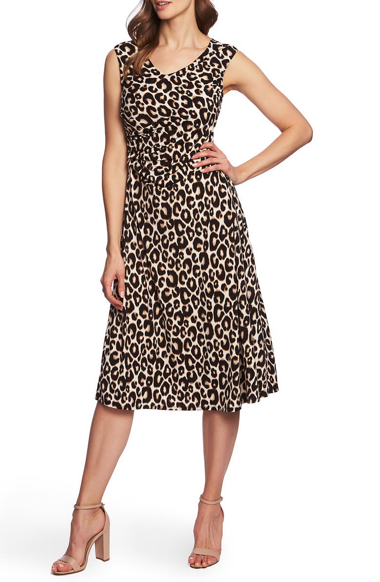 CHAUS Animal Whimsy Dress, Main, color, RICH BLACK
