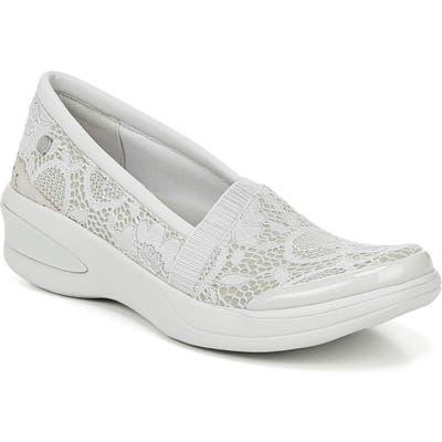 Bzees Flirty Slip-On Wedge Sneaker, Grey