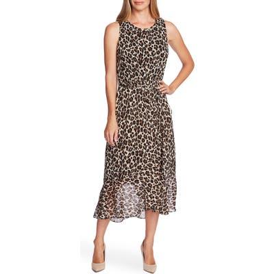 Vince Camuto Leopard Print Midi Dress, Black