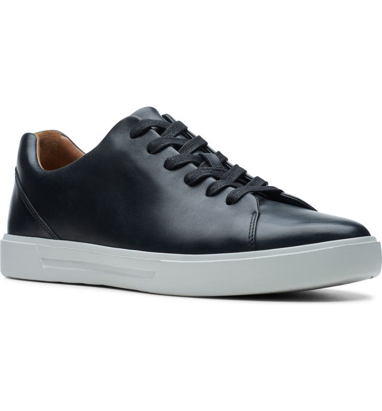 CLARKS<SUP>®</SUP> Un Costa Lace Up Sneaker, Main, color, BLACK LEATHER