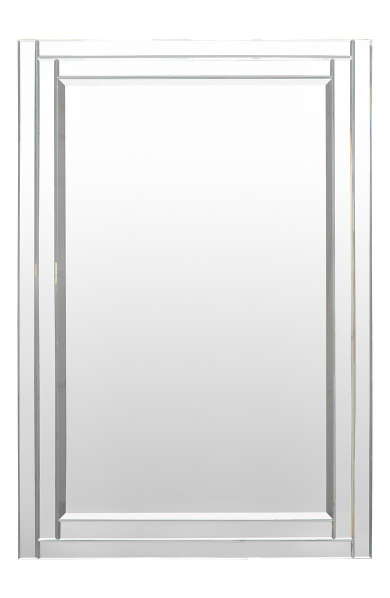 SURYA HOME Bancroft Beveled Mirror, Main, color, SILVER