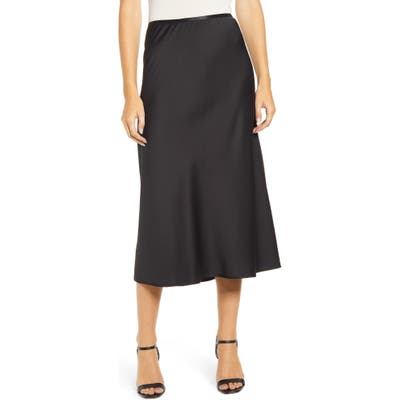 French Connection Alessia Drape Skirt, Black