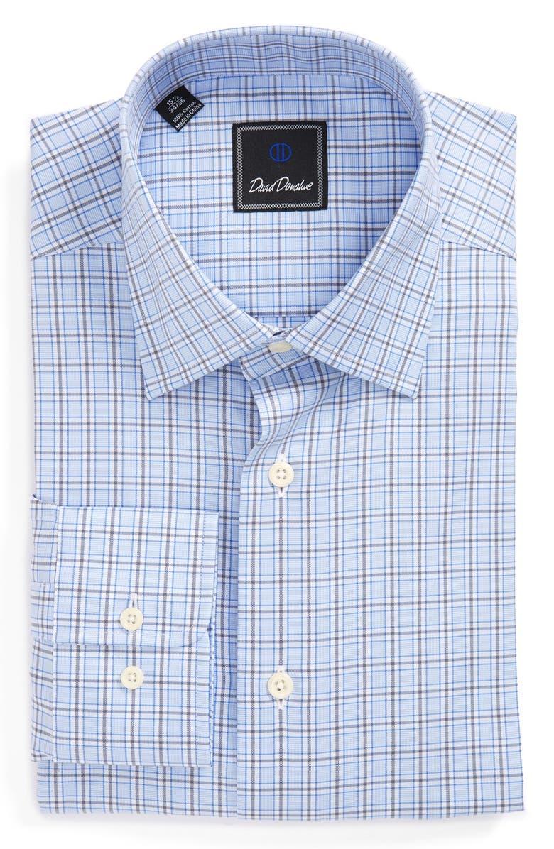 DAVID DONAHUE Regular Fit Plaid Dress Shirt, Main, color, 489