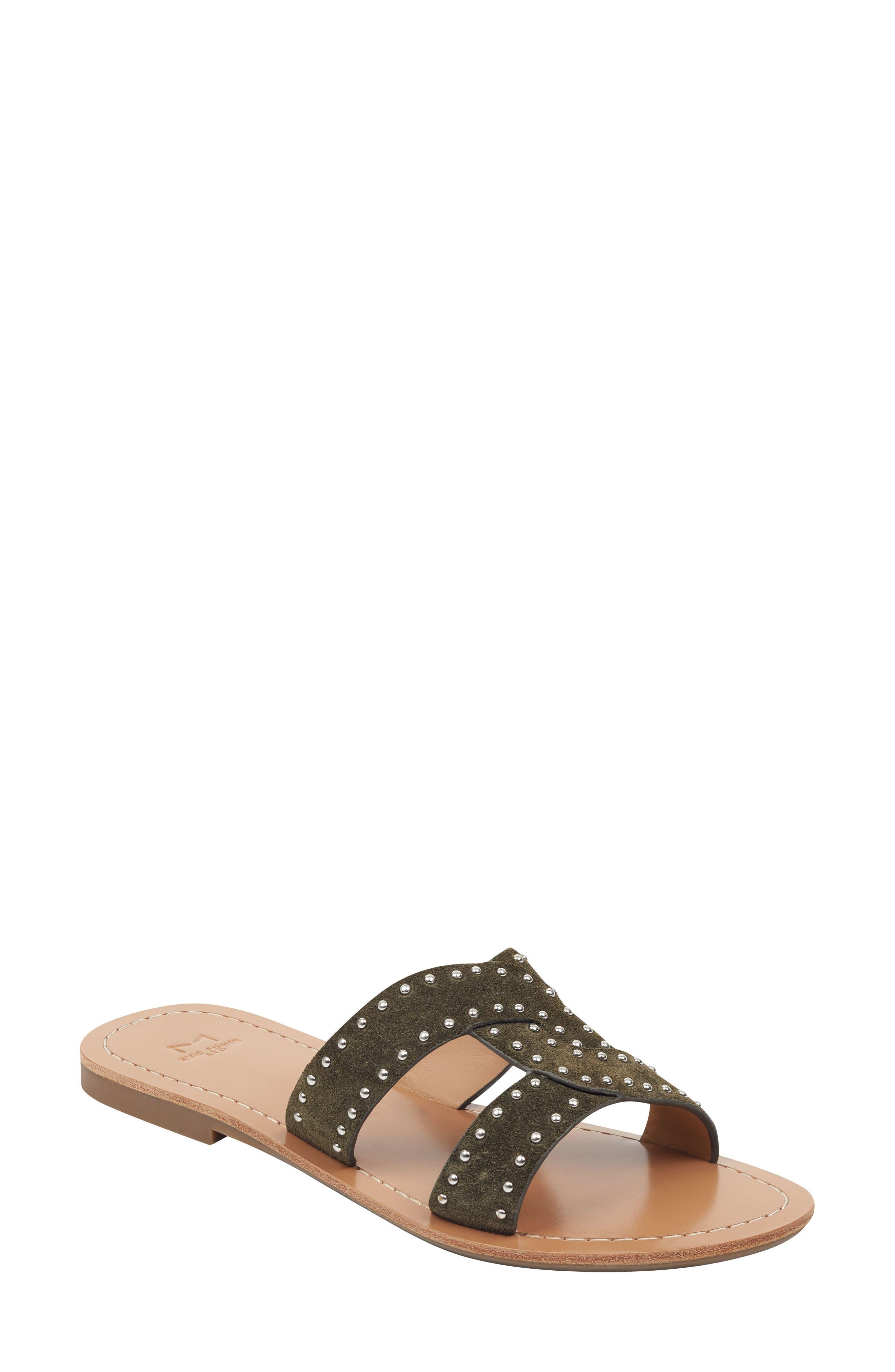 Marc Fisher Ltd Ramie Slide Sandal, Green