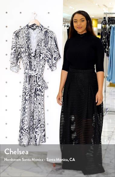 Animal Print Wrap Dress, sales video thumbnail