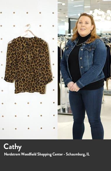 Leopard Print Chiffon Top, sales video thumbnail