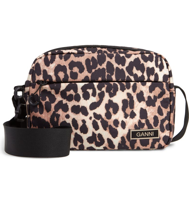 GANNI Camera Crossbody Bag, Main, color, LEOPARD